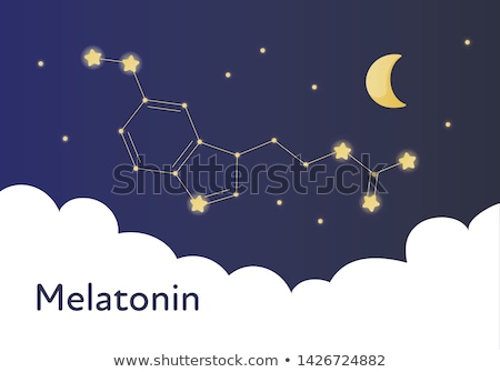 Chemical formula of melatonin on a white background Stock photo © Zerbor