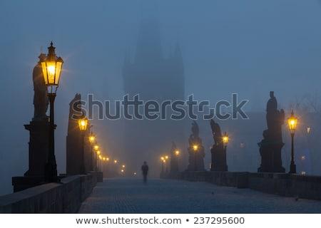 Famoso ponte manhã névoa Praga tcheco Foto stock © CaptureLight