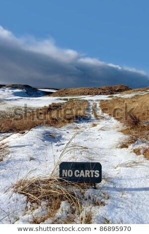black and white Ballybunion links golf course Stock photo © morrbyte