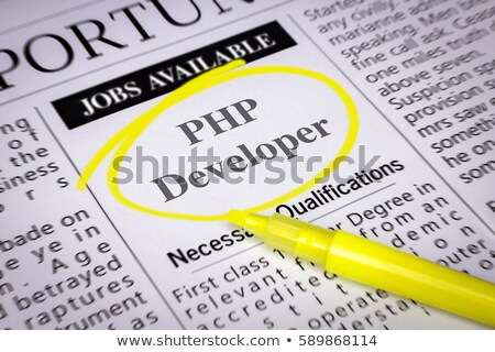 PHP Developer Vacancy in Newspaper. Stock photo © tashatuvango