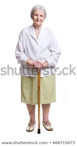 velha · branco · cara · mulheres · cabelo - foto stock © photobac