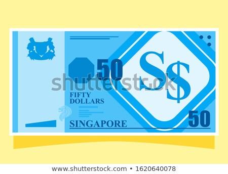 Knop symbool Singapore kaart witte verkeer Stockfoto © mayboro1964