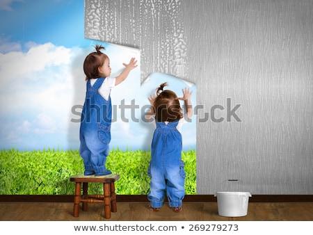 geboren · tweelingen · illustratie · leuk · jongen · roze - stockfoto © adrenalina