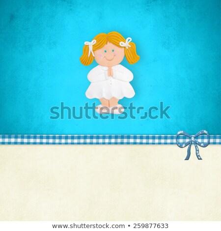 primo · comunione · invito · ragazza · religiosa - foto d'archivio © marimorena