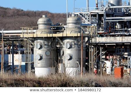 raffinaderij · complex · moderne · industrie · business · hemel - stockfoto © wxin