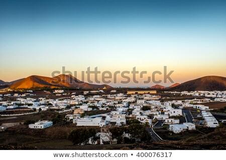 絵のように美しい 村 日の出 スペイン 自然 背景 ストックフォト © meinzahn