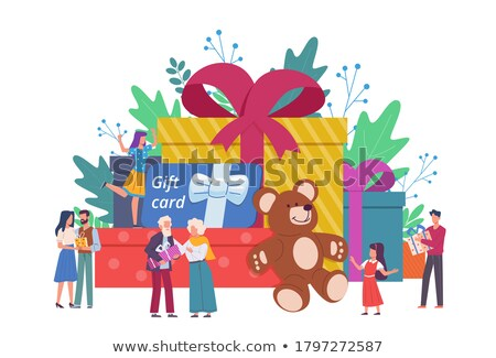 Man gifting small present Stock photo © elly_l
