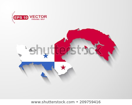Panama Flagge Karte Land Form Stock foto © tony4urban