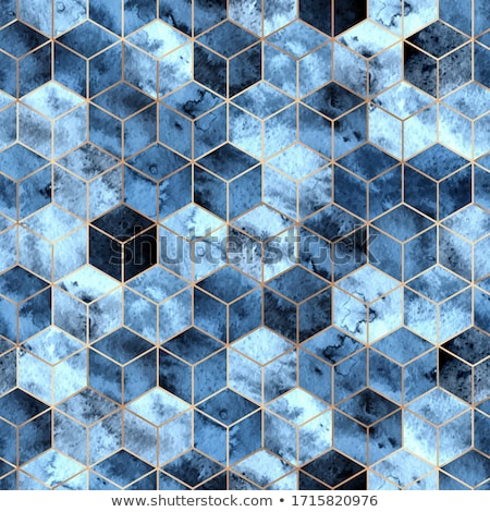 vector watercolor geometric seamless pattern with hexagons stock photo © alexmakarova