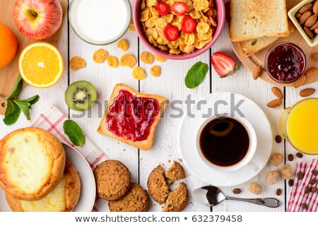 Fresh apple, pastries and coffee for breakfast Stock photo © ozgur
