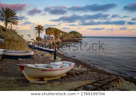 almeria cabo de gata beached boats in the beach stock photo © lunamarina
