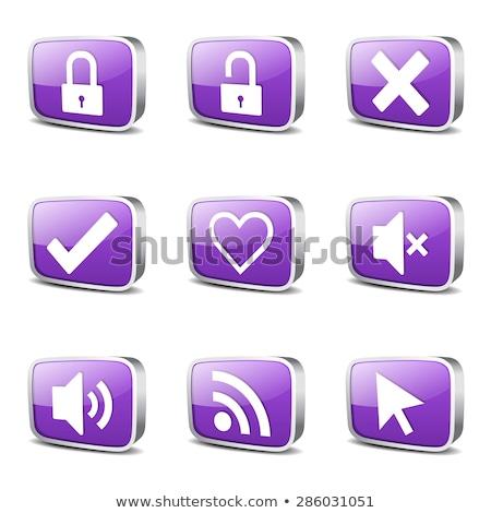 Stock photo: SEO Internet Sign Square Vector Violet Icon Design Set 4