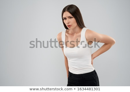 Back view portrait of a woman`s body part in jeans Stock photo © deandrobot
