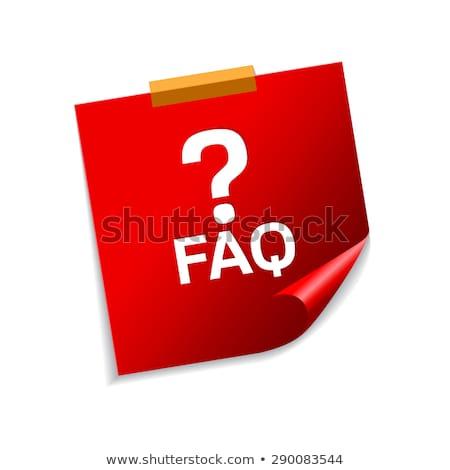 часто задаваемые вопросы красный вектора икона дизайна Сток-фото © rizwanali3d