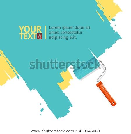 Vettore pennello testo carta segno clean Foto d'archivio © netkov1