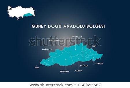 Foto d'archivio: Mappa · Turchia · fuori · isolato · bianco · blu