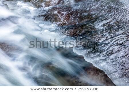 mountain stream melted ice stock photo © michaklootwijk