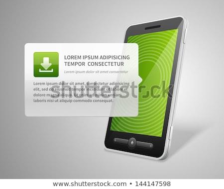スマートフォン · 緑 · ベクトル · アイコン · デザイン · 技術 - ストックフォト © rizwanali3d