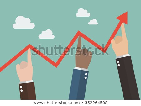 Business team push arrow up Stock photo © fuzzbones0