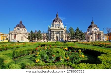 spa · Budapeşte · Macaristan · Bina · yeşil - stok fotoğraf © spectral