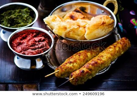 Luleh Kebab Traditional East Dish Stok fotoğraf © zoryanchik