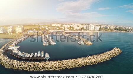 Marina Chypre ville Voyage urbaine bateau Photo stock © Kirill_M