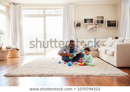 família · bebê · sofá · amor · beleza · mãe - foto stock © Paha_L