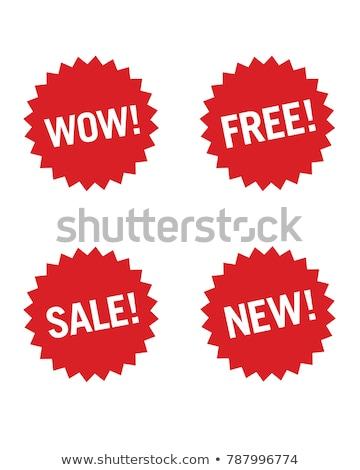 свободный коллекция красный вектора икона дизайна Сток-фото © rizwanali3d