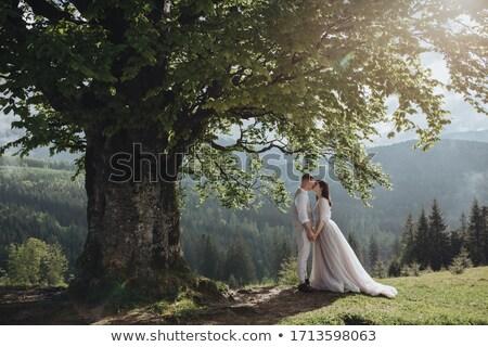 bruiloft · paren · nieuwe · bruid · bruidegom · oude - stockfoto © paha_l