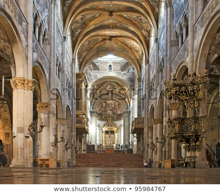 interior of Parma Cathedral, Emilia-Romagna, Italy Stock photo © phbcz