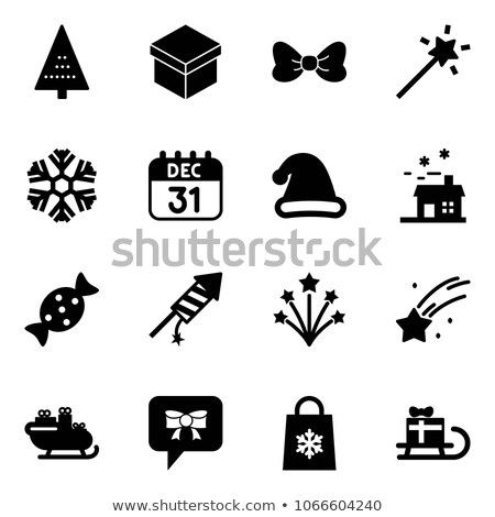 Sign on December 31 and New Year's rocket Stock photo © Ustofre9