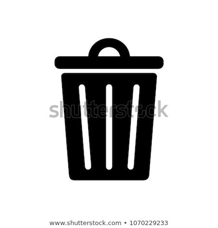 ゴミ アイコン 背景 にログイン バスケット ストックフォト © kiddaikiddee