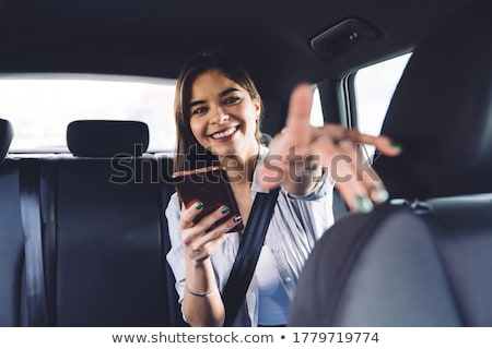 female driverfinger pointing direction stock photo © stevanovicigor