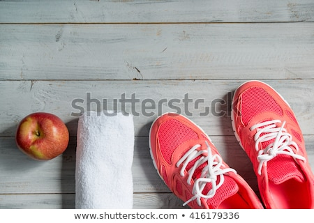 Közelkép sportcipők fából készült sport fitnessz cipők Stock fotó © vlad_star