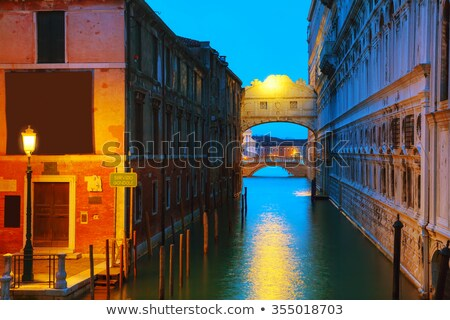 Bridge of sig0hs in Venice, Italy Stock photo © AndreyKr