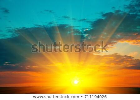 Elképesztő nyár piros hajnal természet tájkép Stock fotó © Escander81