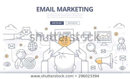 email marketing concept with doodle design style stock photo © davidarts