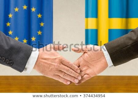 Eu スウェーデン 握手 手 手 会議 ストックフォト © Zerbor