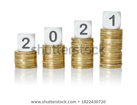 coin stacks with letter dice   earnings stock photo © zerbor