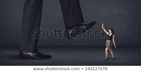 Gigante persona piccolo imprenditrice donna sfondo Foto d'archivio © ra2studio