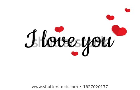 love note card   text pattern with hearts eps 10 stock photo © beholdereye