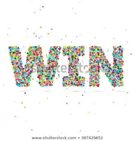 Ganhar palavra partículas eps 10 Foto stock © netkov1