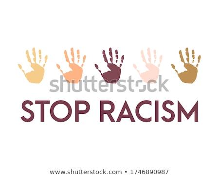 Stop racism  Stock photo © shawlinmohd