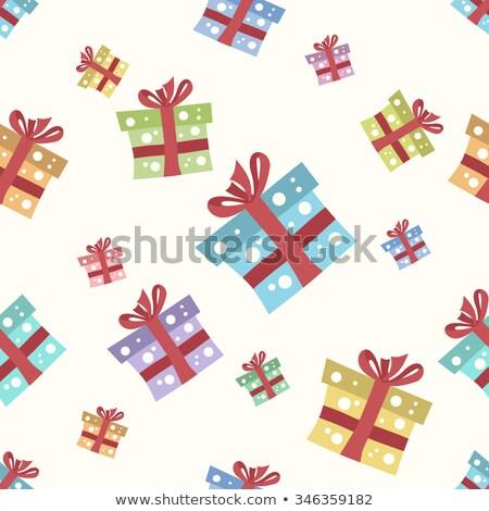Photo stock: Noël · présents · boîte · eps · flocons · de · neige · vecteur