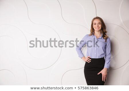 pretty young employee isolated on white stock photo © elnur