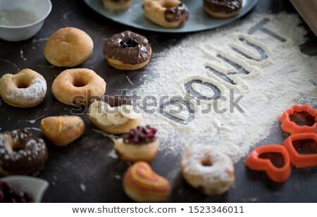 ír recept házi készítésű finom fánkok édes Stock fotó © stevanovicigor