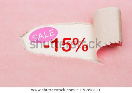 Tizenöt százalék árengedmény 3D kép vágási körvonal Stock fotó © idesign