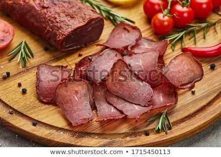 sığır · eti · yanaklar · güveç · yeşil · baharatlar · gıda - stok fotoğraf © oleksandro
