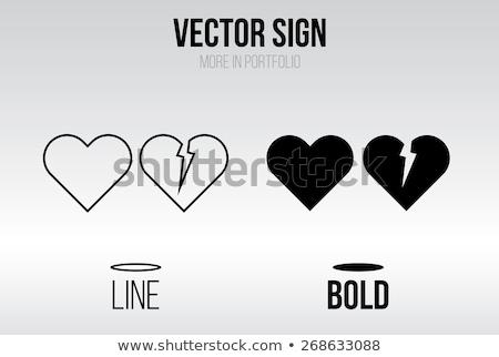 blanco · vector · corazón · rojo · rosa - foto stock © bluering