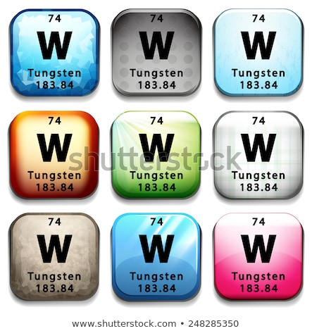 A button showing the element Tungsten Stock photo © bluering